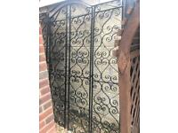 Victorian style gates and 2 panels at sides!