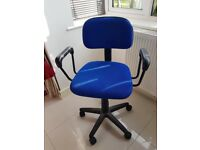Blue Padded Office Chair