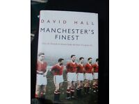 Football book-Manchester United, Manchester's Finest by David Hall, Hardback