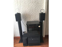 Complete Sony/Yamaha hi-fi separates system with speakers & cabinet