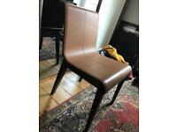 4 Leather chairs £150 each