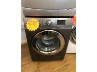 SAMSUNG 8KG DIGITAL SCREEN WASHING MACHINE IN GUN METAL GREY