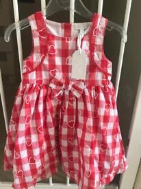 Brand new Zip Zap dress with tags 12m