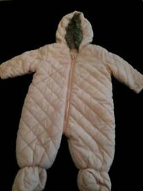 AGE 3-6 MONTHS PEACH ALL IN ONE BABY SUIT