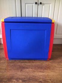 Large plastic toy box/garage storage