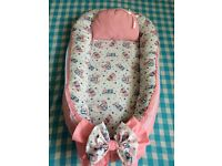 New Baby nest (hand made)with removable cover and pillow 0-12 month