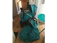 Baby style oyster 2 teal Pram pushchair