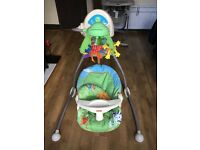 good condition fisher price swinging chair for sale