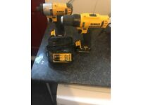 Two DeWalt drills and battery , couple months old works perfectly