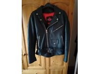 Vintage style leather jacket.