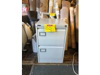Two draw filing cabinet (with key)