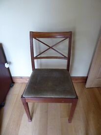 Dining chairs - set of 2 - beige seat covers