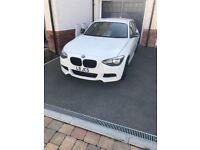 BMW 1 series 120D MSPORT White 51,000 miles 62 plate