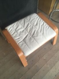 Price reduction on 27 May. Beige foot stool with modern beech wood