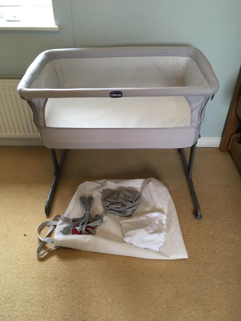 chicco next 2 me crib grey silver in eynesbury cambridgeshire gumtree. Black Bedroom Furniture Sets. Home Design Ideas