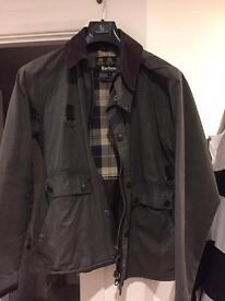 Men's waxed Barbour heritage jacket size L
