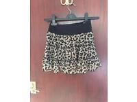 Leopard print skirt H&M size 34