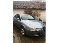 Alfa Romeo 5 Door Hatchback for sale. 2002 147 Selespeed, low mileage, petrol, pale blue.
