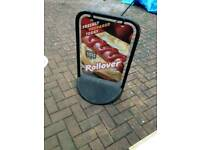 A - board for sale, as good as new, can be wrapped and used for any advertising, only £25