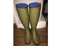 Women's chasseurnord Le Chameau wellies size 6 (39) worn once.