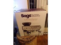 SAGE COFFEE MACHINE UNWANTED XMAS GIFT CURRENTLY £600 IN SHOPS BEAN TO CUP