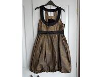 Miss Selfridge gold party dress size 10