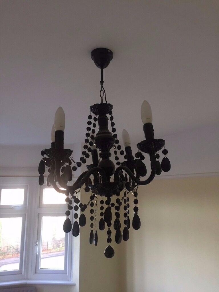 Wickham Black 5 Lamp Pendant Chandelier Ceiling Light