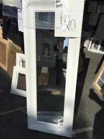 """chunky white dress mirror 50""""x20"""""""