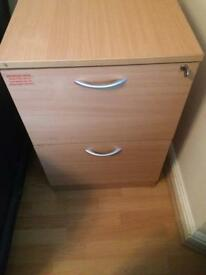 Small filing cabinet with key