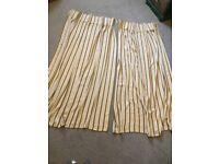Pair of Regency style curtains (1m20cm x 1m55cm drop each)