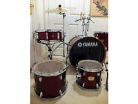 Yamaha YD drum kit with cymbals and accessories