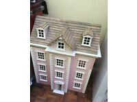 Large 10 room Dolls House with additional furniture and dolls. Preloved in good condition