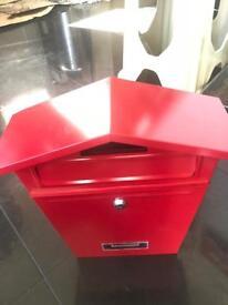 Red Steel Post Box