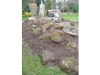 60 pieces Carrstone for landscaping, water feature or garden decoration - job lot