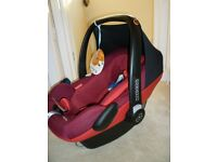 Maxi cosi Pebble Plus Car Seat-Robin Red colour-Brand New- Still Boxed-birth to 12/15 months approx