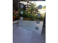 Bathroom mirror with pull cord light switch, used, excellent condition
