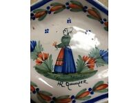 Antique Quimper Faience Plates from Brittany