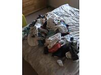 Bundle (65+items) of newborn baby boy clothes