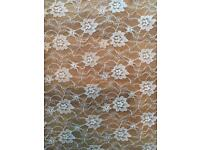 Brand new WHOLE ROLL of lace fabric *1.2m wide*