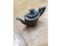 Vintage tin teapot