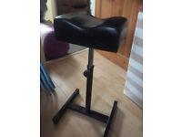 Pedicure foot stool/rest - brand new - black