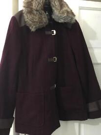 Beautiful dark burgundy/maroon coat