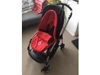 Bugaboo Bee 3 pushchair - good condition with cocoon, raincover, Maxi Cosi car seat adaptors