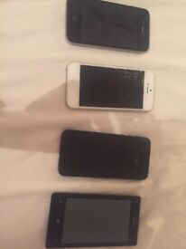 Selection of old iPhones