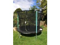 Trampoline for children with safety net