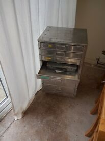 Metal drawers storage unit garage workshop