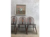 2 x Vintage Ercol Windsor Dining Chairs