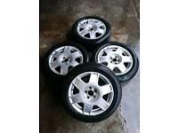 Volkswagen Golf Bora 16 5x112 alloy wheels with tyres 205/55/16