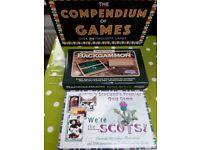 Compendium of 100 games, Travel Backgammon unused, We're The Scots Quiz Game