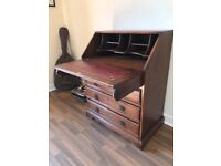 Old Charm solid oak bureau by Wood Bros